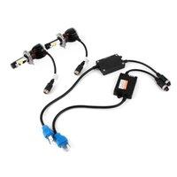 2X H11 / H8 / H9 Hi / Lo شعاع السيارة LED 60W 5200LM مصباح المصباح 6000K المصابيح الأمامية