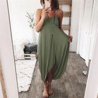Платья натуральные натуральные цветные повседневные платья мода косой шеи платья без рукавов женские одежды дизайнерские асимметричные женские
