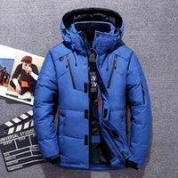 Giacca da uomo di marca di lusso in piumino da uomo -20 gradi inverno abbigliamento uomo bianco anatra piumino giacca uomo parka uomo addensare caldo neve giacche cappotti maschi a fiato