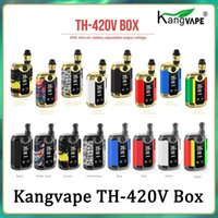 100% Authentic KangVape Th420 V Box Kit 800mAh 20W Ajustável Waitten Wattage Vape Mod Th-420V com 0,5ml Cartucho de Bobina Cerâmica