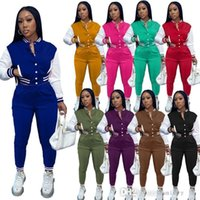 Women Jackets Ladies Two Piece Suits Stripe Outfits For Woman Sweatsuit Desinger Tracksuits Sport Joggers Set 2 Pc Fall Clothes