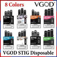 100% Оригинальные VGOD STIG Одноразовые E Сигарета 8 Цвета Предварительно Заполненные POD Устройство 3 Шт. Пакет 270 мАч Батарея 1.2ML Картридж Vape Pen Kit