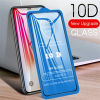 10D Tempered Glass Full Glue Cover Curved Screen Protector Film For iPhone 13 Pro Max 12 Mini 11 XS XR X 8 7 6 Plus SE