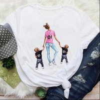 Mom Mama Boys Cute Sweet Women T Shirts Printing Mother Cartoon Graphic Tees Clothes Print Tops Lady Female Shirt