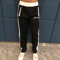 Palmiye Çizgili erkek Siyah-Beyaz Kadın Okulu Gündelik Spor Pantolon Q39i
