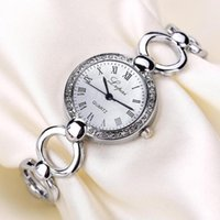 Rose Gold Mulheres Pulseira Assista Quartzo relógios de Pulso de Relógios de Moda Relógios Presente Femme Relojmujer 50p