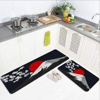 Carpets Modern Nordic Black Flower Pad Plush Hogar Kitchen Hbo Bath Mat Carpet Home Entrance Doormat Bedroom Living Room Floor Mats Rug