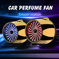 Car Air Freshener Cool Fan Perfume Atmosphere Lights Conditioning Vent Outlet Clip Fragrance Auto Accessories