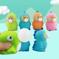 New strange artifact bubble spitting duck dinosaur ball pinch music squeeze funny decompression vent toy