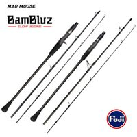 Bambluz Giappone Piena Fuji Parts 3 Section Portable Slow Jigging Asta 1.9M / Casting Corss Canne da pesca in carbonio