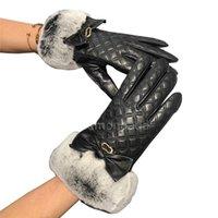 Женщины Bling Chinestone Перчатки Мода Argyle Кожаные Рукавицы Мягкий Кролик Флаус Перчатки Высокое Качество Овчины Модели