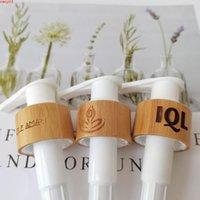 Hochwertige Lotionspumpe für Make-up-Flasche (100 PC / Los) Beliebte Bambuslotion Pump Spray Black Foam Seifenspender Lidgoods