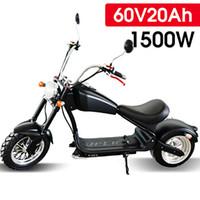 Motociclista elettrico Scooter 2000W 60V 20AH Adulto a tre velocità 2 ruote con livelli da 18 pollici