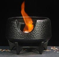 Gusseisen Holzkohle Barbecue Grilltisch BBQ Mini Outdoor Portable Brennstoff Öl Herd Teekocher Heizung Herd Wärme Isolierung Base 003-6 Klein