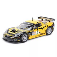Bburago 1:24 Corvette C6R Racing Car Static Diecast Alloy Collectible Model Car Factory Outlet