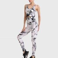 YOGA Kıyafet Dikişsiz Kravat Boyalı Set Spor Takım Elbise Darbeye Toplanan Koşu Sutyen Yüksek Bel Hızlı Kurutma Spor Tayt Kadın Giysileri