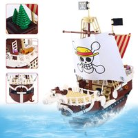 Anime One Piece Go Herry Pirates Ship Block Set DIY 1048PCS Luffy Модель лодки Модель здания Кирпич Игрушка для детей Q0723