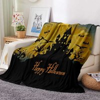 Halloween Grimace Haunted Mansion Flannel Blanket Cartoon Christmas Gifts Quilt Bedding Travel Office Throw Blanket DropShipping H0910