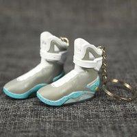 Voltar para o futuro mini 3d estéreo sneaker chaveiro mulher homens crianças chaveiro anel presente sapatos de luxo chaveiros bolsa de carro chaveiro chaveiro sapatos chave titular