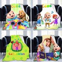 70 * 100cm Cocomelon Coberturas dos desenhos animados de JJ Cobertor de Flanela de JJ Coco Coco Melão Tapete Bebê Sofá NAP Quilt Soft Country Toalhas de banho G4OG2BZ