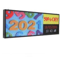 39x14Inches 192x 64 píxeles P5 Pantalla interior de color completo RGB Imagen de video Flash LED Signo Programable Placa de mensajes de desplazamiento