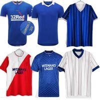 Glasgow Rangers Fussball Trikots Special 2021 Champions 55 82 83 87 88 20 21 21 Morelos Kent Aribo Arfield Golden Retro 90 92 94 96 97 99 01 08 Gerrard Hemden
