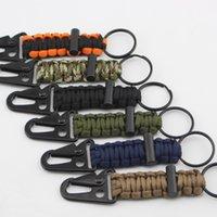 Keychain Ao Ar Livre Camping Kit Sobrevivência Militar Paracord Corda Corda De Emergência Nó Abridor De Garrafas Chaveiro Anel de Corrente De Camping Cabiner 751 Z2