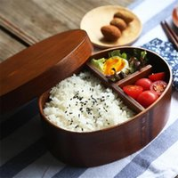 Dinnerware Sets Healthy Wood Lunch Box Japanese Style Bento Boxes 1 2 Layer Portable Picnic Kids Students Container Kitchen Accessories