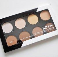 HCP01 Bronzer 하이라이트 컨투어 프로 팔레트 9 색 Professional Pour Illuminer Et Accentuer Face Proced Powder Foundation
