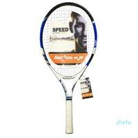 Kids Carbon Liga de Alumínio Raquete de Tênis Ultra-Light Racquete com String Free Bag para 6-14 anos de idade crianças iniciantes
