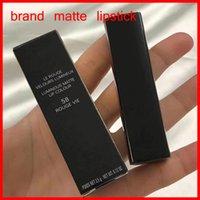 Marca de lujo Famosa maquillaje de alta calidad lápiz labial mate rojo y negro tubo 58 # Cosméticos premium