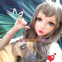 Máscaras de festa (ER-08) Feminino Doce Menina Resina Meia Cabeça Kigurumi Bjd Olhos Crossdress Cosplay Japonês Anime Função Lolita Máscara com orelha de fada