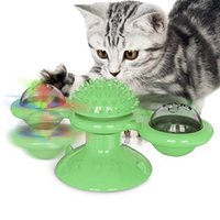 Cat Toys Turning Windmill Toy Pet Puzzle Trainer Turntable Teasing Scratching Tickle Hair Brush Groomer Pets Supplies
