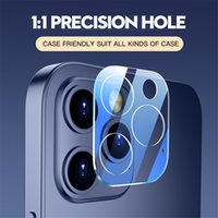 Phone Lens Screen Protector for iPhone 12 Mini 11 Pro Max 3D Transparent Scratch-Resistant Full Cover Camera Back Tempered Glass Film