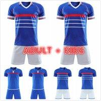 man kids kit 1984 1998 2000 Retro version soccer jerseys ZIDANE HENRY MAILLOT DE FOOT Home Trezeguet football shirt uniform