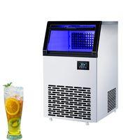 220V Fabricación automática de hielo Pequeño cubo comercial Máquina de fabricación de hielo 60kg 120kg Leche Tea Shop Gran capacidad