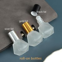 Storage Bottles & Jars Wholesale 8ml Car Air Freshener Hanging Perfume Diffuser Empty Frosted Glass Bottle For Essential Oils Auto Decoratio