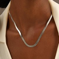 Chokers 2021 Fashion Snake Chain Necklace Women Simple Handmade Stainless Steel Choker For Jewelry Gift