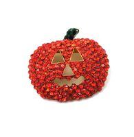 Pins, jóias de alta quantidade de moda laranja laranja strass máscara de ouro banhado a ouro broches natal halloween presente de jóias entrega 2