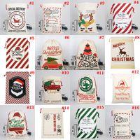 Рождественский фестиваль Кильды подарочные сумки для вечеринки украшения большой холст-мешок Santa Sack Drawstring сумка с оленями