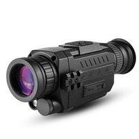 Bekintek Night Vision Монокуляр Teleccope Goggles Водонепроницаемая Инфракрасная Охота Устройство 300M Полное Темное Наблюдение Расстояние 5x Оптика 8x Цифровой Zoom Рекулярный аккумулятор