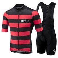 Morvelo 2021 الرجال الملابس الصيف الدراجات الملابس مجموعات قصيرة الأكمام مريلة السراويل الرجال تنفس مجموعة 1