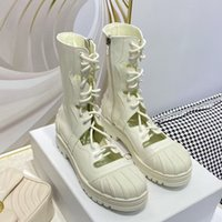 New arrived woman fashion flat martin boots femal hollow out lace up black white shoes