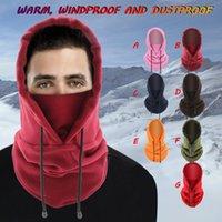 Cycling Caps & Masks Windproof Hiking Men Warm Thermal Fleece Balaclava Face Beanies Ski Bike Motorcycle Neck Warmer Helmet Hat Outdoor Supp