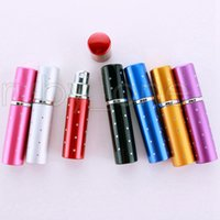 5ml Perfume Bottle Portable Mini Aluminum Refillable Bottles Spray Empty Makeup Containers With Atomizer For Traveler Party Favor RRA4453