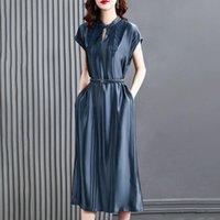 Robe de fête Grande taille Femme Sexy Robe Spring Summer 2021 Lunettes de luxe haut de gamme Longue Jupe longue Vêtements Vestine