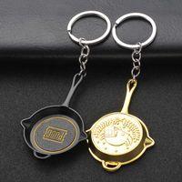 Keychain 게임 Pubg PlayerUnknown의 전장 코스프레 의상 소품 합금 프라이팬 Armor 모델 키 체인 키 체인 팬