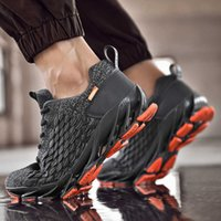 Men Blade Shoes Autumn 2021 Mesh Breathable Sneaker Mens Large Size Casual Shock-Absorbing Runner sport trainer sneakers Trendy