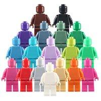 Massive Farbe Bausteine Puppen Mini Montage Figuren Spielzeug für Elternkind Interaktion Großhandel Kinder Ziegel Spiele Spielzeug