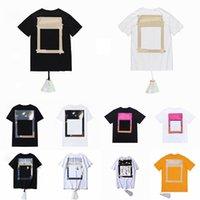 Yaz Erkek Kadın Tasarımcılar Tişörtleri Gevşek Tees Moda Markaları Çapraz Tops Adam S Casual Gömlek Lüks Giyim Sokak Şort Kol Giysileri Çiftler T Shirt Süveter